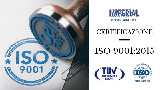 Certificazione Iso 9001 Imperial Assemblaggi